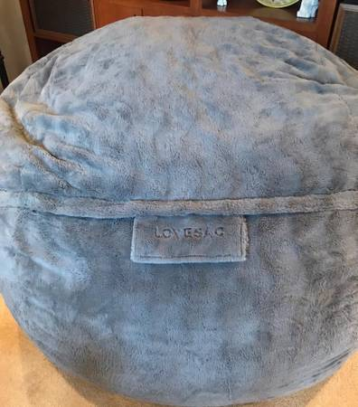Photo Lovesac Bigone chinchilla cover like new - $800