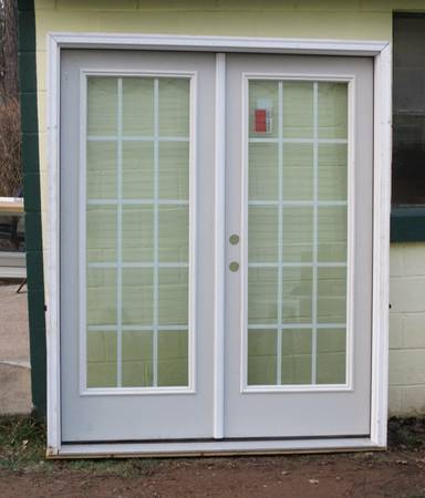 Photo New Double Exterior Insulated French In Swing Door Unit 66 34quot x 82quot - $725 (Pine Grove, Pa)