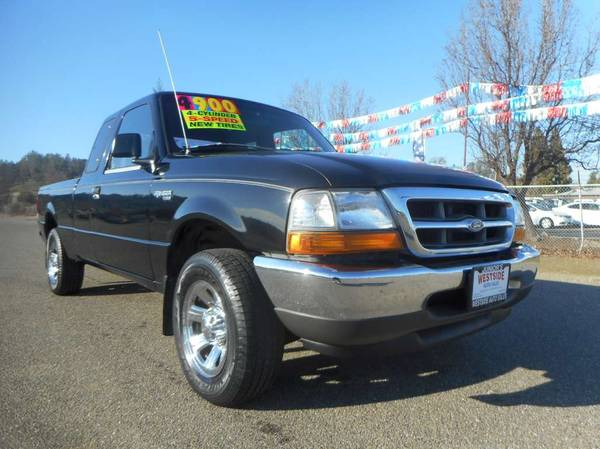 Photo 2000 FORD RANGER SUPERCAB 4 CYLINDER 5 SPEED BRAND NEW TIRES LOW MILES - $4900 (JUNIORS WESTSIDE AUTO SALES 530-365-5353)