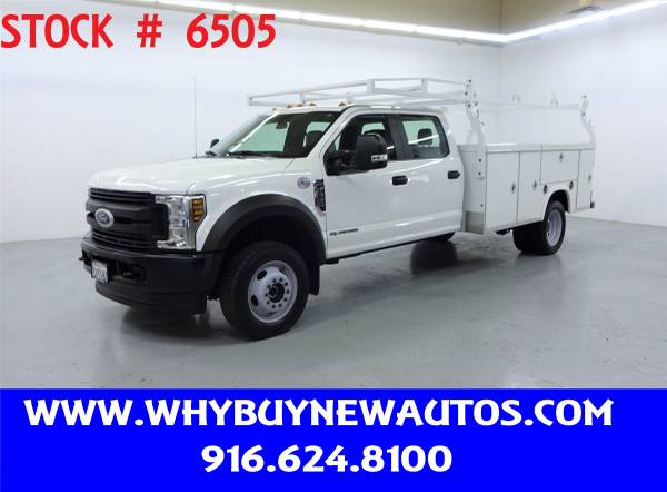 Photo 2018 Ford F550 Utility  4x4  Diesel  Crew Cab  Only 31K Miles - $58,980 (Rocklin)