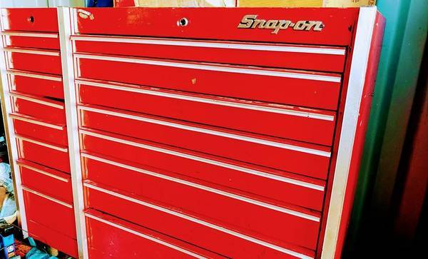 Photo 2-Vintage style SNAP ON rolling tool boxes one is the taco box. - $1000