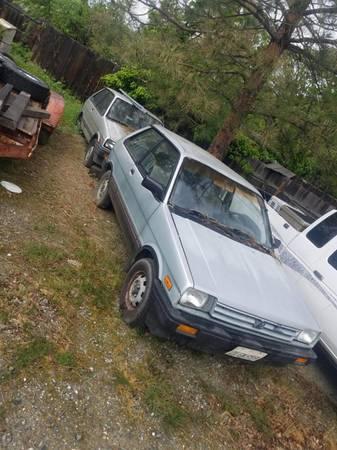 Photo 4X4 Subaru 1988 Justy 4x4 car MANUAL TRANS - $1,500 (Weaverville)