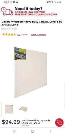 Photo Artist Loft 48quot48quot white canvas - $35 (Redding)