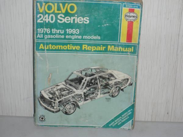 Photo Haynes Repair Manual for Volvo 240 series - $10