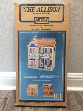Photo New Wooden Dollhouse - $60