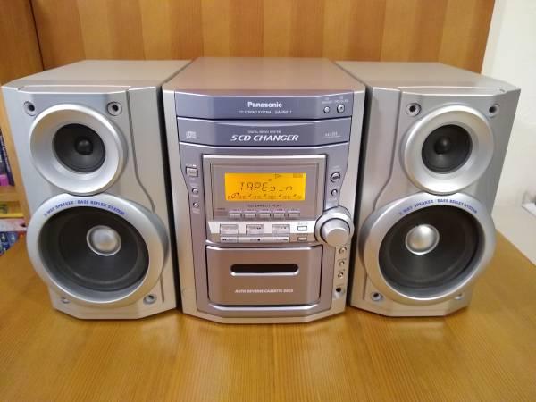 Photo Panasonic SA-PM11 AMFM 5 CD Changer Cassette Stereo 100Watts Tested - $70 (Redding)