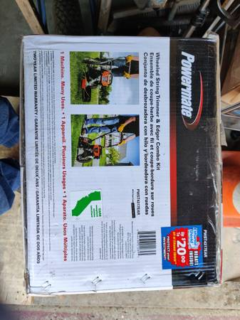 Photo Powermate Wheeled String Trimmer Edger Weed Eater - $220