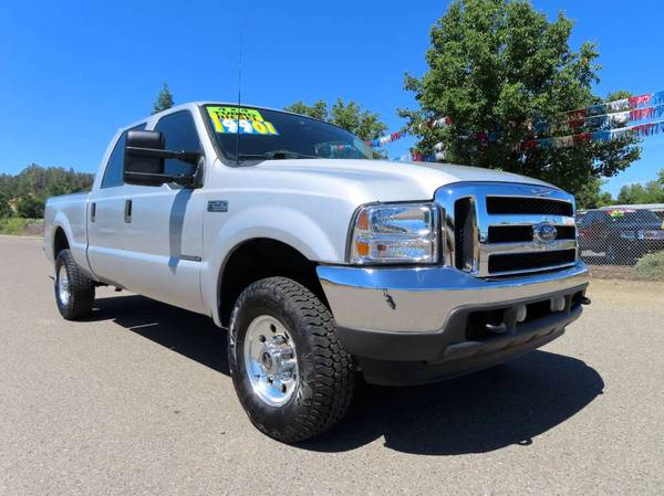 Photo REDUCED 2001 FORD F250 SUPERDUTY CREWCAB SHORT BED 4X4 7.3 DIESEL 7.3 - $17,901 (JUNIORS WESTSIDE AUTO SALES 530-365-5353)