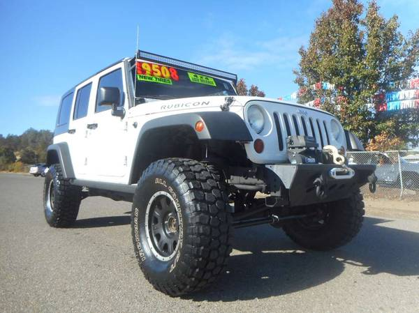 Photo REDUCED PRICE 2008 JEEP WRANGLER RUBICON UNLIMITED MANY EXTRAS - $17908 (JUNIORS WESTSIDE AUTO SALES 530-365-5353)