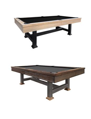 Photo Rustic Weathered Pool Table w Steel Legs, Delivered  Installed - $2950 (Delivered to Redding)