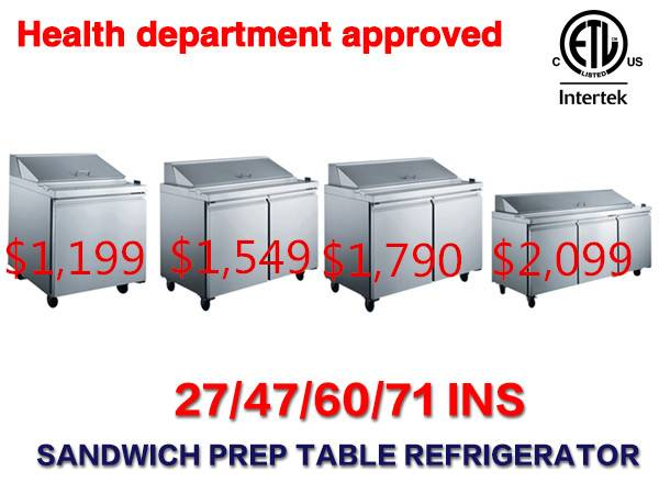 Photo Salad Sandwich Prep Table Refrigerator RESTAURANT EQUIPMENT - $1,258 (100 NEW)