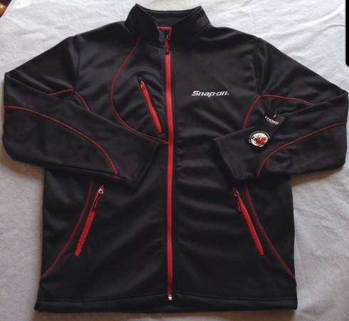 Photo Snap On Lethal Jacket By Choko Size XL Black Red Zip super deal - $75 (Redding)
