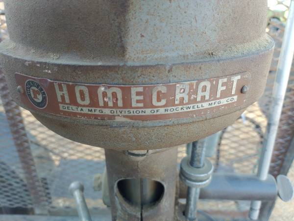 Photo Vintage Delta Rockwell HOMECRAFT BENCH DRILL PRESS - $350 (Anderson)