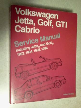 Photo Volkswagen Jetta, Golf, GTI, Cabrio Models 1993-1996 SERVICE Manual - $20 (redding ca)