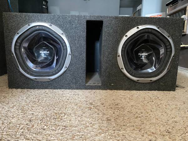 Photo 2 10 sony xplod subs with 1000w  in bandpass box - $180 (Reno)