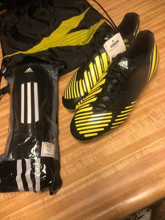 Photo Adidas Predator Predito LZ TRX FG cleats and Adidas Shinguards - $45 (Reno)