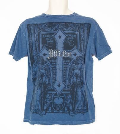 Photo Authentic Mens Affliction Blue Short Sleeve T-Shirt Size Medium - $24 (Southwest Reno)