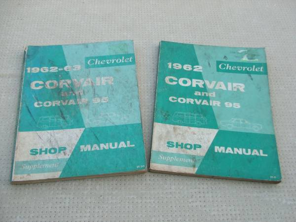 Photo Chevrolet Corvair 1962-63 shop manuals - $20 (Sparks Nv.)