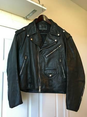 Photo Gino Vintage Motorcycle Leather Jacket 46 biker rocker harley davidson - $80 (genoa)