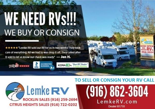 Photo LET US BUY OR SELL YOUR RV - VOTED 1 RV DEALER - 2 LOCATIONS (Rocklin  Citrus Heights)