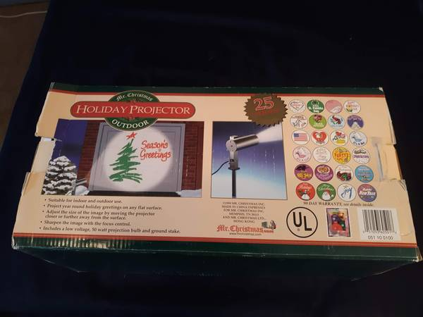 Photo Mr Christmas outdoor holiday projector - $40 (Gardnerville)