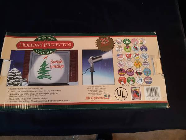 Photo Mr Christmas outdoor holiday projector - $20 (Gardnerville)