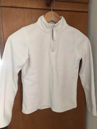 Photo Old Navy Girl39s Size L White Fleece Quarter-Zip - $8 (Carson City)