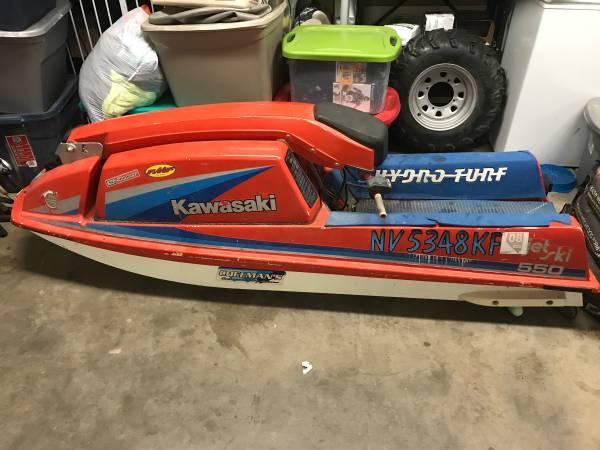 Photo Reduced550 stand up jet ski kawasaki 1985 - $1,000 (Carson city)