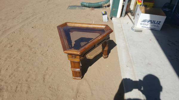 Photo Triangle shaped end tables(qty of 4) - $120 (Red Rock)