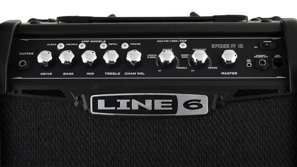 Photo USED Line 6 Spider IV 15w Digital Modeling Guitar Practice Amp - $120 (Sparks)