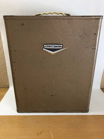 Photo Vintage Craftsman Metal Power Tool Box Cabinet - $40 (Reno)