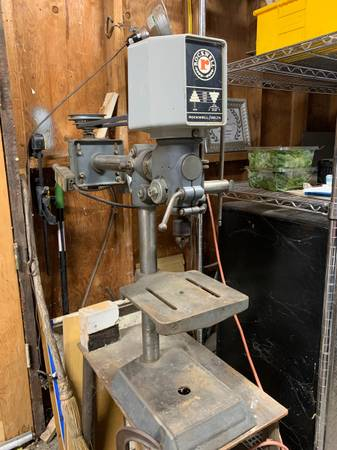 Photo Vintage Rockwell Delta 11-280 Radial Drill Press - $250 (Reno)