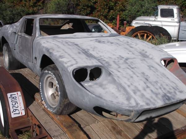 Photo barn find gt-40 mclaren lambo kit car super car chassis - $7500 (shingletown)