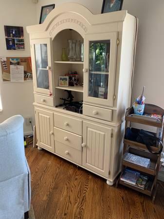 Photo buffet cabinet, world market desk, side tables - $50 (Caughlin Ranch)