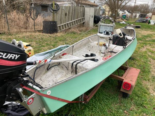 Photo 15394quot Gheenoe Highsider w outboard w trailer - OBO - $3,200 (Richmond)