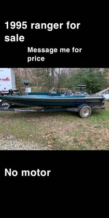 Photo 1995 Ranger bass boat 1800obo - $1800 (Prince George va)