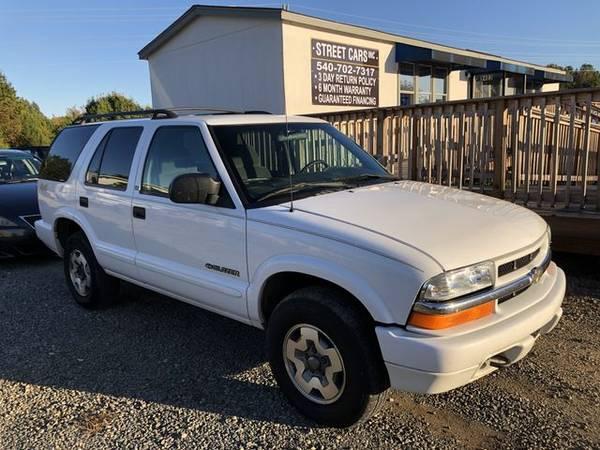 Photo 2002 Chevrolet Blazer - 6 month6000 MILE WARRANTY 3 DAY RETURN POLI - $3000.00 (Fredericksburg)