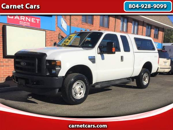 Photo 2010 Ford F-350 SD 4 WHEEL DRIVE EXTENDED CAB WITH CAMPER SHELL - $14999 (Richmond)