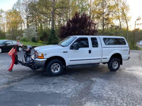 Photo 99 Ford F-350 4x4 lariat snow plow salt spreader - $9450 (New Kent)