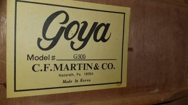 Photo Goya by Martin G-300 Guitar - $135 (Glen Allen)