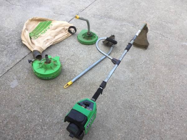 Photo Lawn Boy string trimmer, blower, edger,Vaccum combo - $80