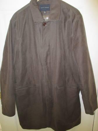 Photo Mens Banana Republic Brown Suede-Like Coat Size XL Tall - $45 (Glen Allen)