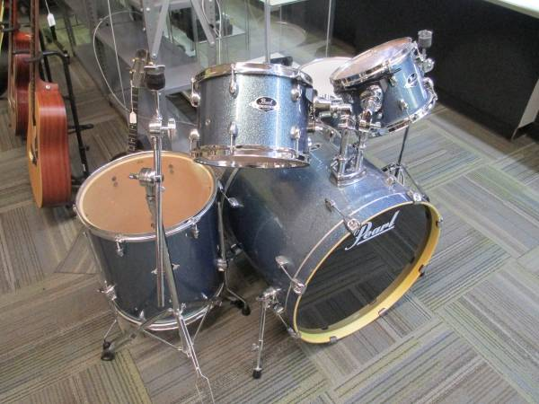 Photo Pearl Export Series 5-Piece Drum Set - Aqua Blue - $325 (2203 Brook Rd)
