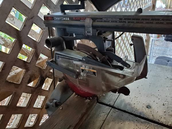 Photo Sears-Craftsman 8-14quot Radial Saw - $50 (Forest Hill)