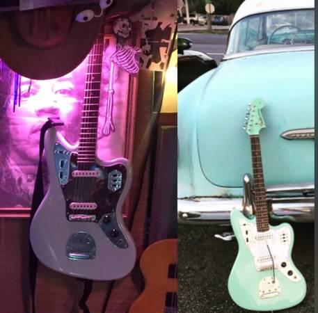 Photo Surf Green Fender Jaguar w custom neck - $775 (Henrico Scotts Addition)