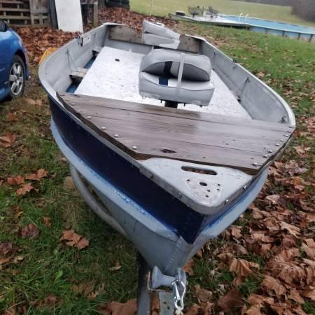 Photo 14 ft Jon Boat  Trailer  Trolling Mtr - $650 (Williamstown)