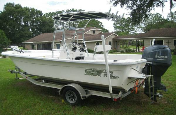 Photo 2008 Carolina Skiff 2013 Yamaha 115 Outboard Motor Boat Trailer Loaded - $12000
