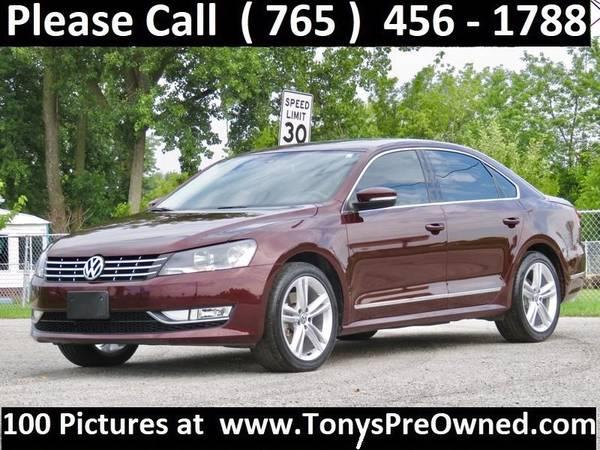 Photo 2014 VW PASSAT SEL TDI DIESEL  19,000 Miles  FINANCING AVAILABLE - $15995 (Kokomo)