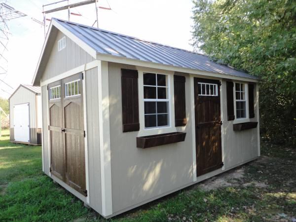 Photo Amish blt locally cabin shed garage barn portable No Credit Checks (Anderson IN)