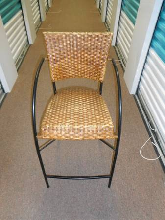 Photo Black Metal Frame and Wicker Back and Seat - $10 (Blue Ash)